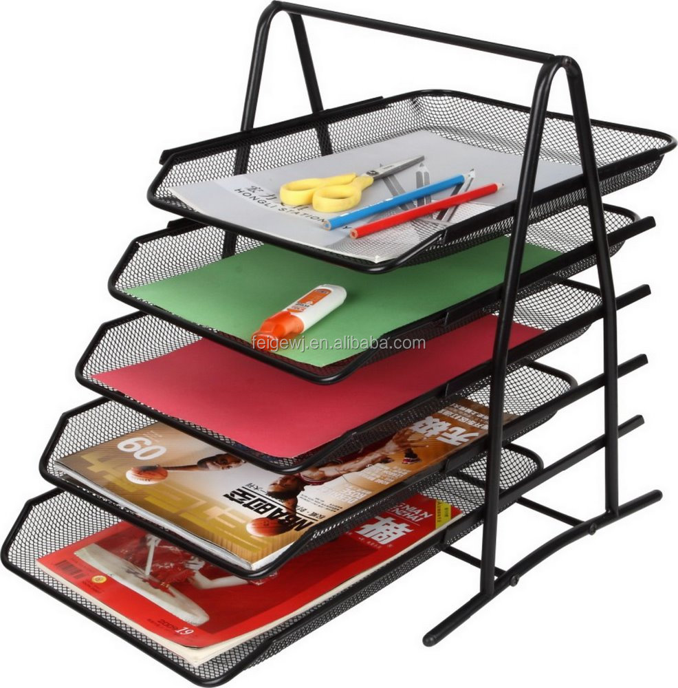 Mesh Wire 5 Tier Document Tray 5Layer Mesh Letter Tray Wholesales