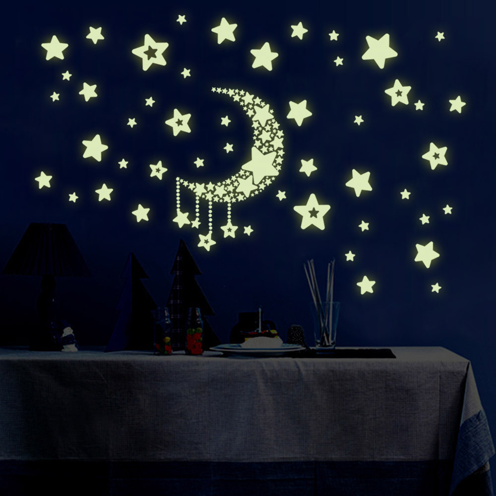 Pack Luminous Stars Wall Stickers Home Glow In The Dark Stars For Kids Baby Room DIY Wall Art Home Decor Sticker
