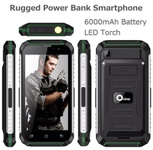 XP7710 Android 6.0 Quad core MTK 6580 GPS 3G LTE Rugged power bank Mobile Phone with 6000mAh battery