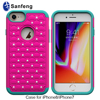 Bling Rhinestone case for Iphone 8, silicone mobile case for Iphone 8 cell phone accessories