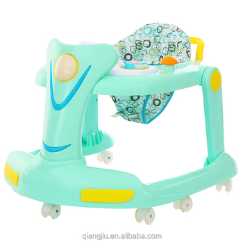 2019 best selling fashion plastic kids toys outdoor round baby walker with rubber wheel