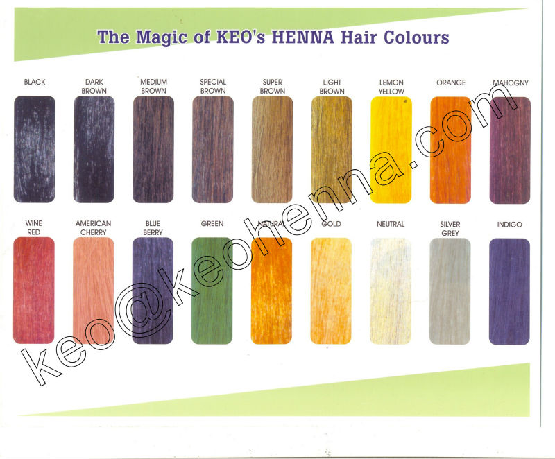 100% Chemical Free Hair Colors