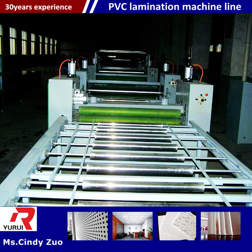 stainless steel material pvc laminating machine/pvc laminated gypsum board equipment