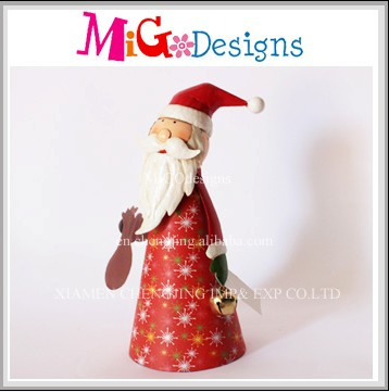 Wholesale Metal Decor Gift Novelty Santa Design Christmas Wall Hanging