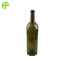 Colored glass screw top wine bottle 750ml