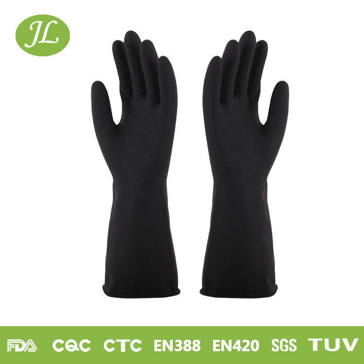 Good rubber manufactures insulating industrial latex coated gloves