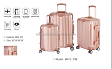 Popular high quality colorful shell luggage
