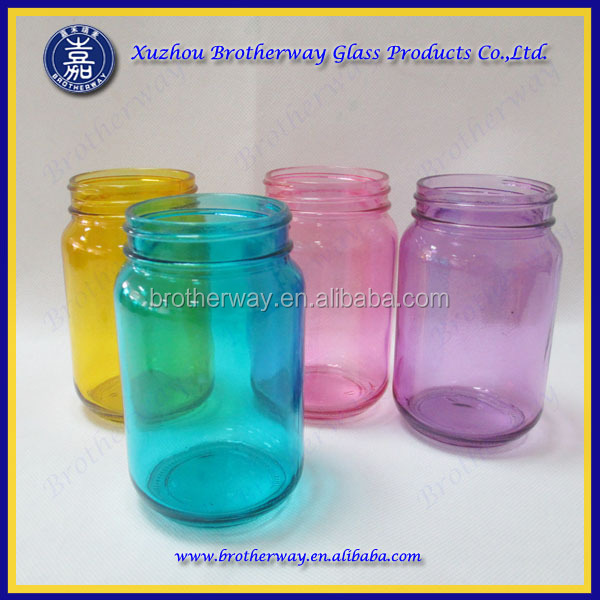 wholesale painted mason jar for candle