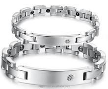 China Wholesale Cheap Bio couple magnetic stainless steel bracelet