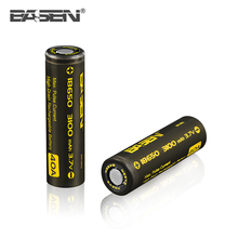 2017 hot selling BASEN 18650 3100mah lithium ion battery cell 40A 3.7v for box mod