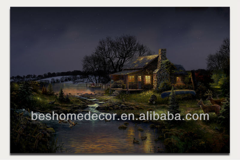 house decorating art picture, led light up wall decor