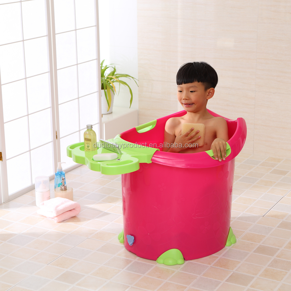 2017 hot selling! Eco-friendly colorful plastic large children bath tub suitable for 0-12 years old