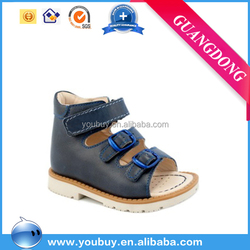 Black genuine leather medical orthopedic shoes 2014 summer safety shoes