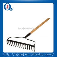 farming and gardening rake 71014 with wooden handle, fiber glass handle or steel handle