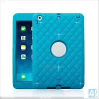 PC Silicone Drop Resistance Tablet Case for Kids for iPad Mini 2 P-APPIPDM2HYBC001