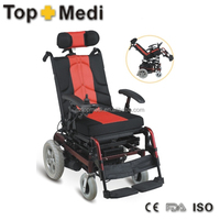 reclining adjustable durable multifuctional lift standing electric power wheelchair for disable people