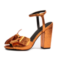 Latest Fashion Women Sandals Heels Gold Strap Sandals