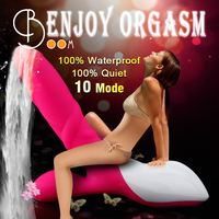SORBO Wholesale Factory OEM 10 Speeds Silicone Electric Penis Massage/Waterproof G-spot Vibrator Dildo Sex Toys for Adult