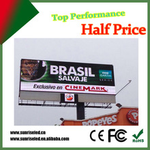 Outdoor stand 100% P8 P10 P16 LED wartproof poster advertising display metal frame tempered glass scrolling led billboard