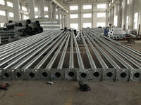 Galvanized Single Arm Curved Lighting Poles Lighing Steel Pipe