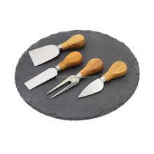 Round Slate Cheese Board Wholesales with Cheese Knife