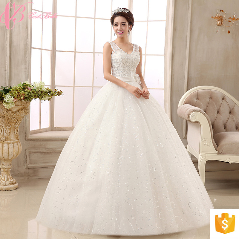 Guangzhou Bling Lace Applique Peacock Wedding Dresses Ball Gown