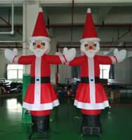 Hot inflatable mini air dancer Santa, sky dancer for christams decoration