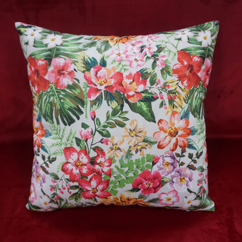 Full color floral patterns square decoration cushion cover fancy cushion shell wholesale