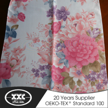 XXC 100% polyester modern floral printed living room curtain