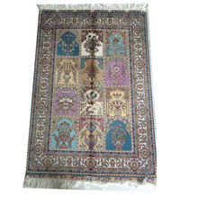 Factory directly attractive style handmade persian silk carpet tiles and rug