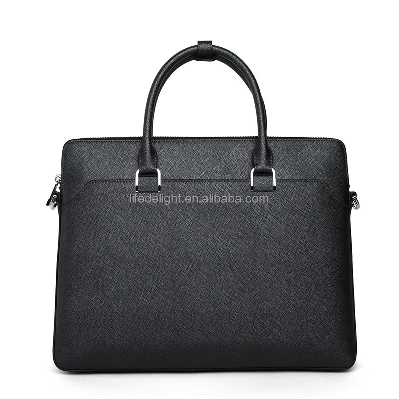 first layer cowhide leather laptop bag, men's business real leather laptop messenger bag