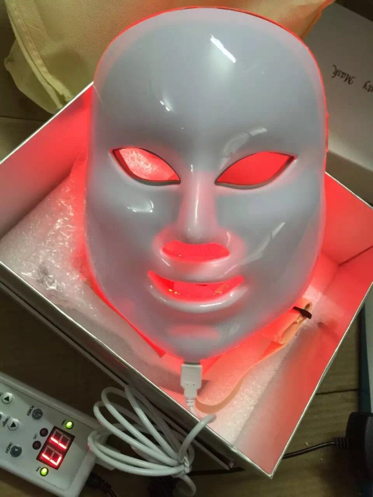 Skin Rejuvenation Therapy 7 colors led photon facial mask