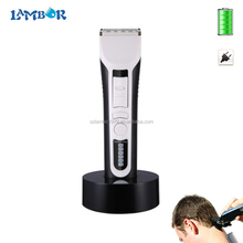 CE FCC 1 year warranty white black ABS material dingling rf-607 hair clipper hair trimmer with 8 hours battery
