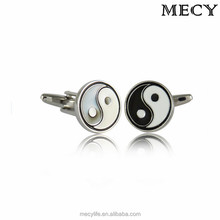 MECY LIFE wholesale 2015 unique design Chinese high quality yin yang cufflinks