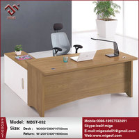 Walnut Wood Finishing Manager Office Table