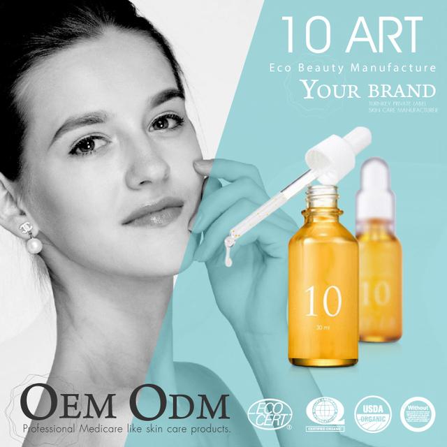 Private label Pore control face serum in ampoule for oil skin