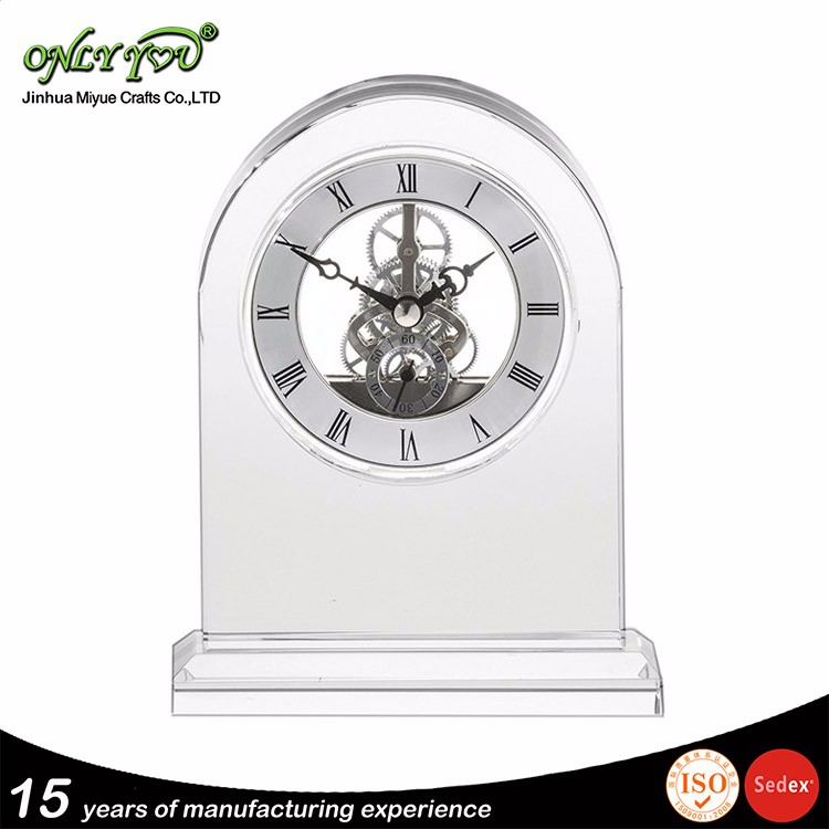 Super Quality Customized wedding favor crystal clock