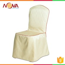 Factory Wholesale White Spandex/Polyester Wedding Banquet Hotel Chair Cover with Skirt