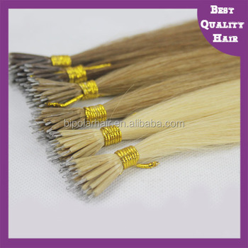High quality 100% virgin remy russian nano bead hair extension