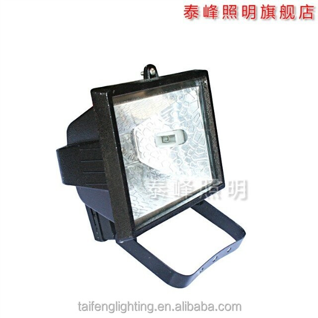 2016 NEW die cast aluminum and tempered glass ip65 halogen flood light 150w 300w 500w 1000W