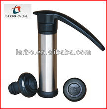 hot sell stainless steel wine pump with two stoppers, small order can be accept