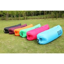 260cm inflatable sofa beach air lounger bed