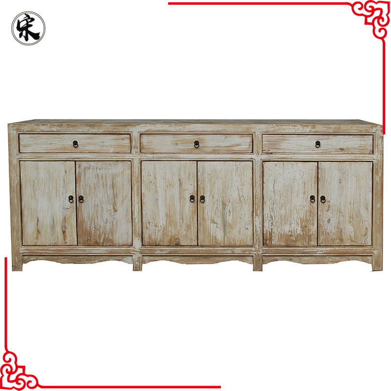wholesale rustic reclaimed solid wood pine old furniture