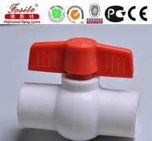 Specialized ppr plastic pipe and fitting ball valve