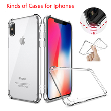 2017 Transparent Clear Soft TPU Shockproof Silicon Phone Cases for iphone8 & 8S