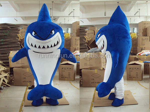 CE cheap shark mascot costumes for adults