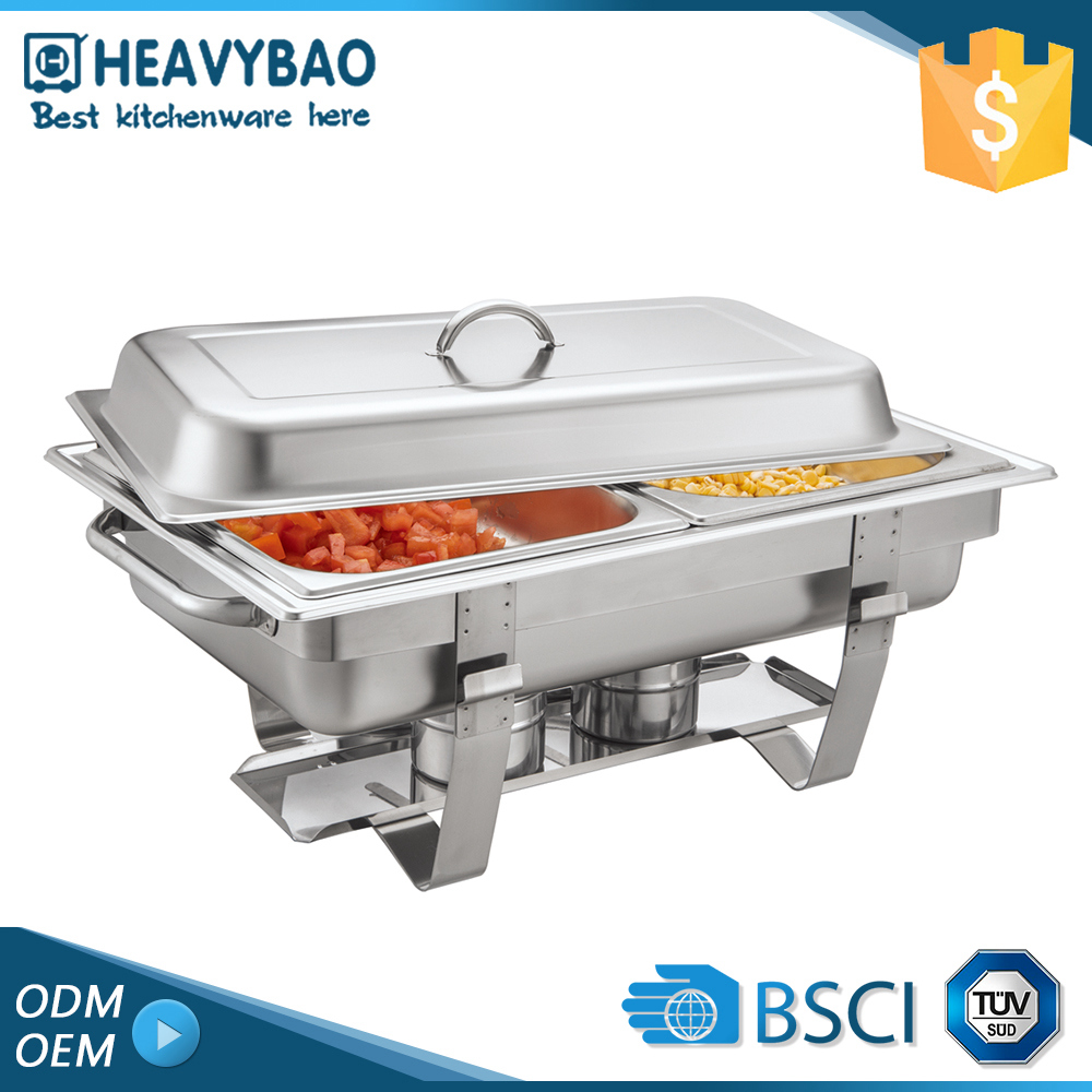 Heavybao Economy Stainless Steel Commercial Buffet Catering Equipment Cheap Chafer Chaffing Dishes for Hotel