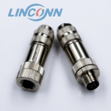 M12 circular threaded connector male female lathe connector