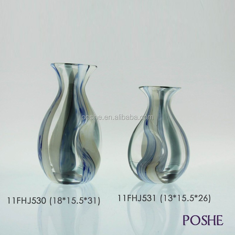 Popular Price Handmade Glass Flower Vase/Glass Vase For Flower Arrangement