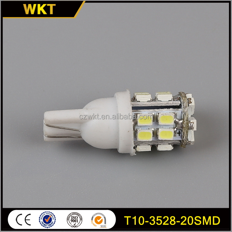 Factory hot-sale t10-20-3528 t10 car side light led bulb